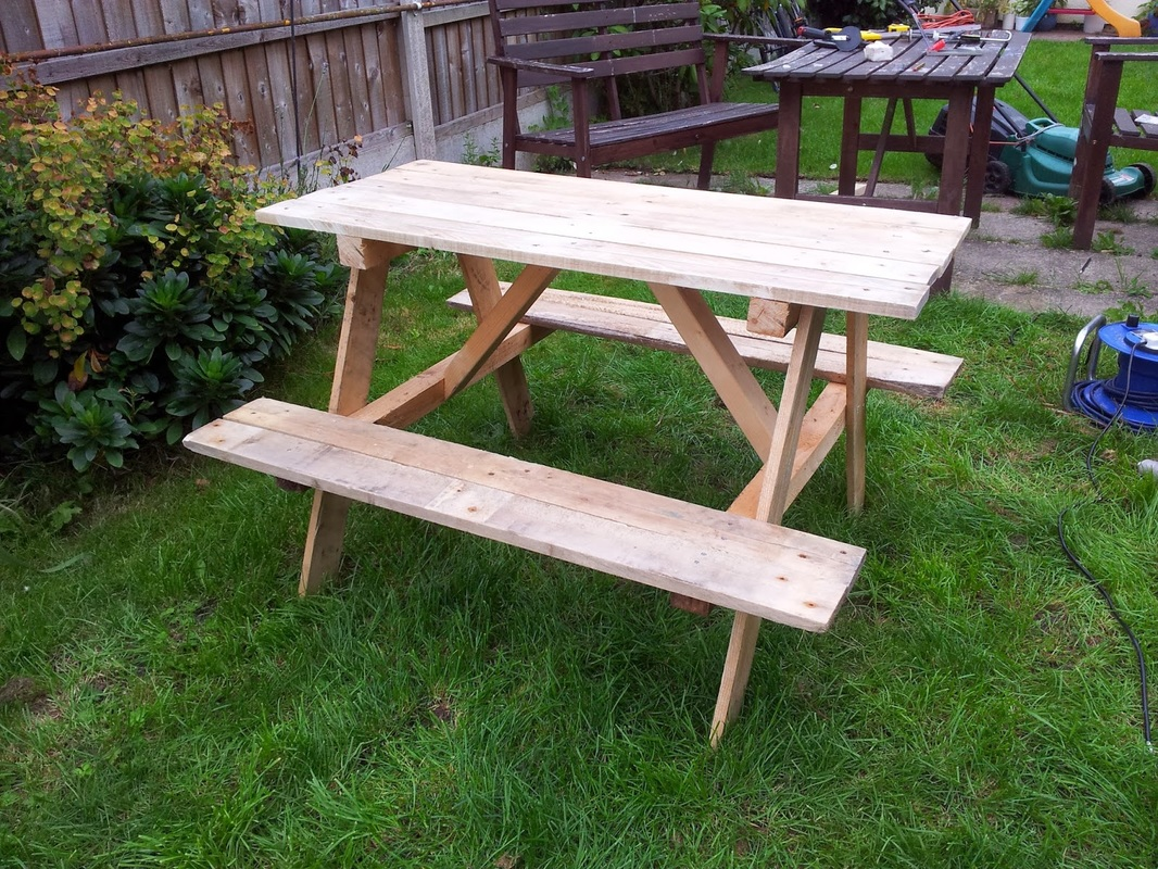 make a picnic table wood